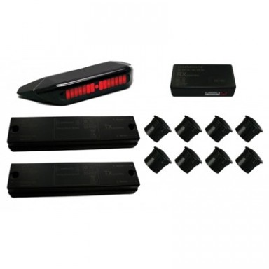 Parkmatic Powerline parking sensors, 8 sensors (rear, trailer), display